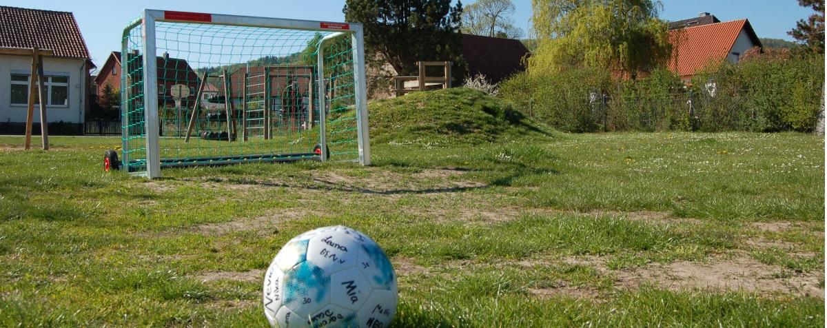 Fußball in der Hofpause